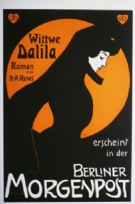 Vintage German advertisement poster